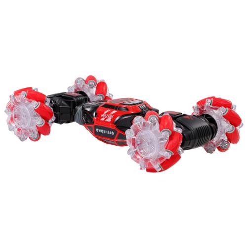 Купить Машинка-перевертыш ZhengGuang Hyper (UD2196A), с управлением жестами 1:16 33 см красный/черный, Радиоуправляемые игрушки
