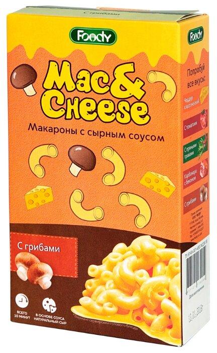 Foody Макароны Mac&Cheese с сырным соусом с грибами, 143 г