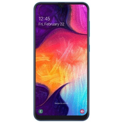 Смартфон Samsung Galaxy A50 64GB синий (SM-A505FZBUSER) смартфон samsung galaxy a30 2019 sm a305f 64gb синий