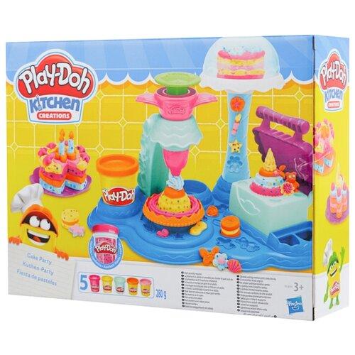 Купить Масса для лепки Play-Doh Kitchen Creation Сладкая вечеринка (B3399), Пластилин и масса для лепки
