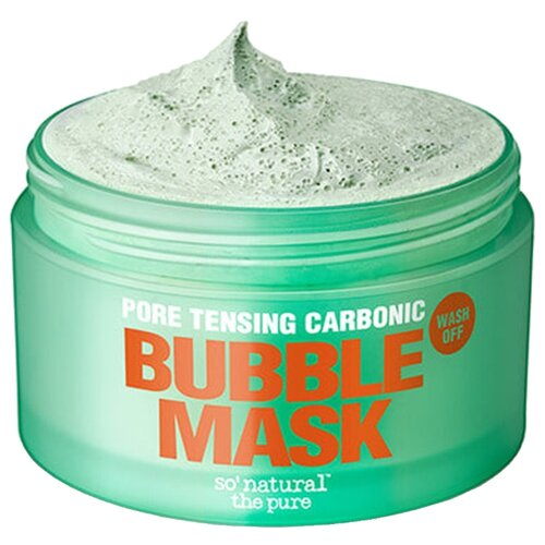So'natural Глиняно-кислородная маска Pore Tensing Carbonic Bubble Pop Clay Mask, 130 г