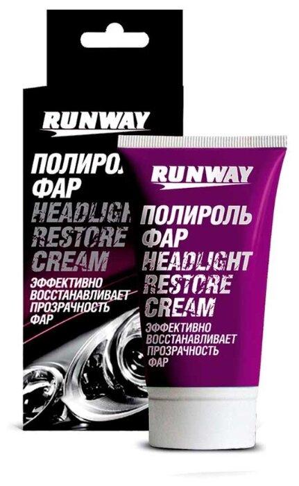 RUNWAY Полироль фар HEADLIGHT RESTORE CREAM, 0.05 л