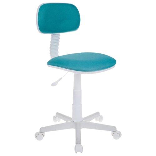 Компьютерное кресло Бюрократ CH-W201NX детское, обивка: текстиль, цвет: бирюзовый 15-175 портмоне женское fabula friends цвет бирюзовый pj 49 ch