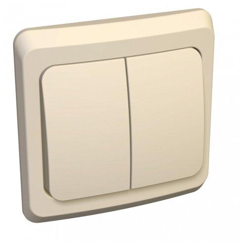 Выключатель 2х1-полюсный Schneider Electric BC10-002K,10А, слоновая кость выключатель 2х1 полюсный schneider electric sedna sdn0300321 10а белый