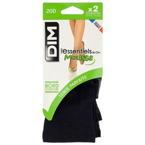 Капроновые носки DIM 2068 20 den, 2 пары, размер 35-41, noir носки dim 017d 2 пары размер 35 38 черный