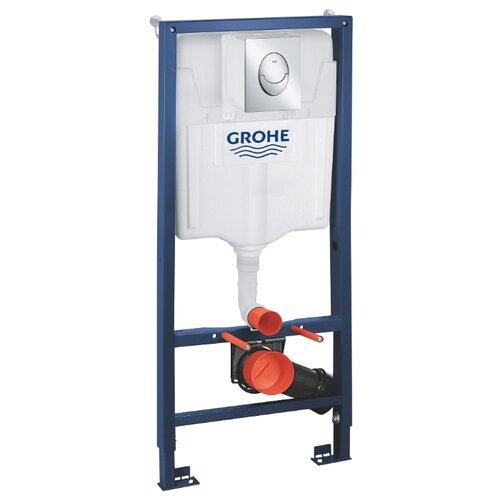 Рамная инсталляция Grohe Rapid SL 39503000 синий/хром