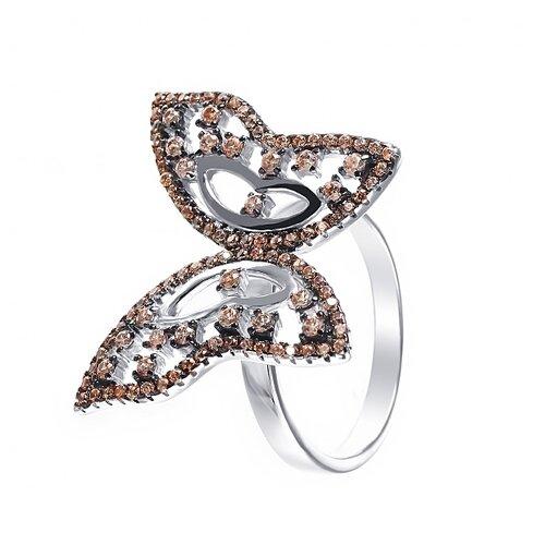 ELEMENT47 Кольцо из серебра 925 пробы с кубическим цирконием Ring_KO_002_WG, размер 17
