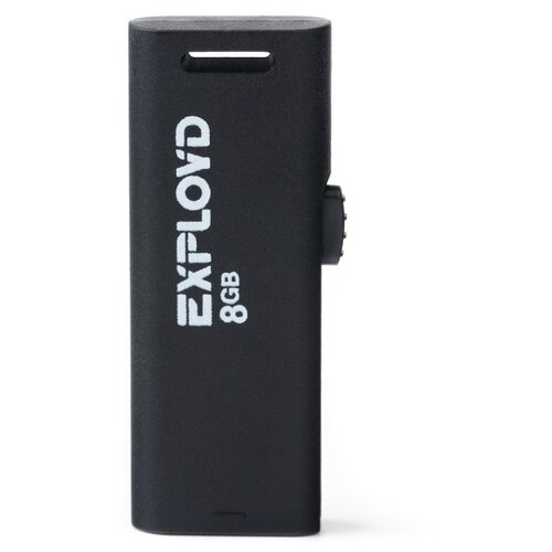 Фото - Флешка EXPLOYD 580 8GB black usb flash drive 8gb exployd 580 ex 8gb 580 red