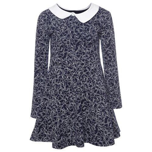 Платье M&D размер 98, темно-синий платье m bimbo размер 128 желтый темно синий