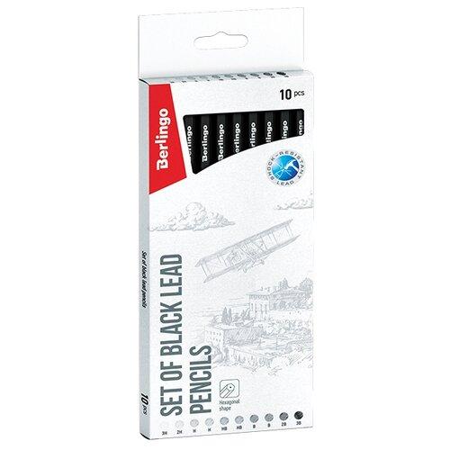 Купить Berlingo Набор чернографитных карандашей 10 шт (BS01210), Карандаши