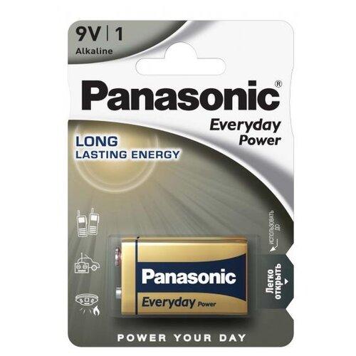 Батарейка Panasonic Everyday Power Крона/6LR61 1 шт блистер батарейка трофи 6lr61 1bl 1 шт