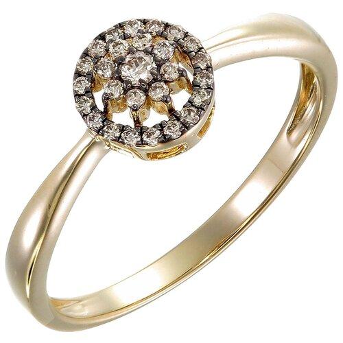 Фото - Sargon Jewelry Кольцо с 23 бриллиантами из жёлтого золота R1638-2002, размер 16 sargon jewelry кольцо с изумрудом и бриллиантами из жёлтого золота r1312 2010 размер 16 5