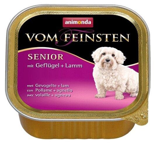 Корм для пожилых собак Animonda Vom Feinsten домашняя птица, ягненок 22шт. х 150г