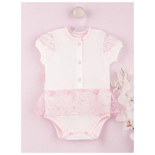 Купить Платье-боди Трия Нежный возраст размер 62-68, экрю/розовый, Платья и юбки