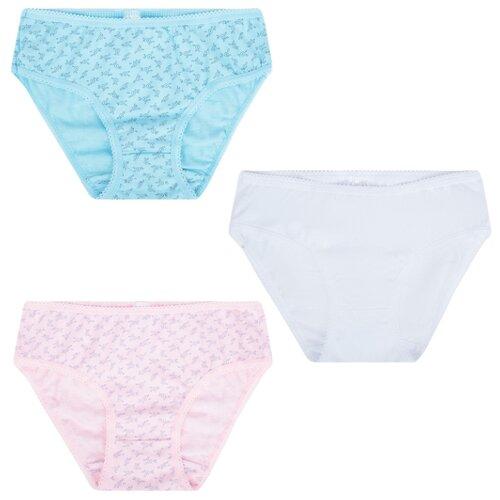 Купить Трусы Leader Kids размер 86-92, белый/голубой/розовый, Белье