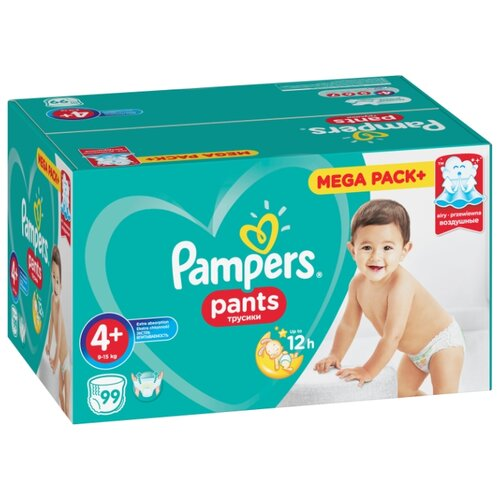 Купить Pampers трусики Pants 4 (9-15 кг) 99 шт., Подгузники