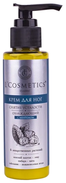 L Cosmetics Крем для ног Охлаждающий с ментолом 100 мл баночка