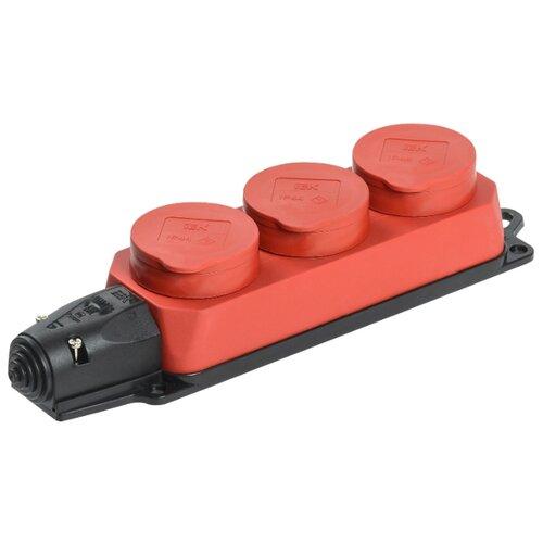 Колодка IEK Омега РБ33-1-0м 16 А красный