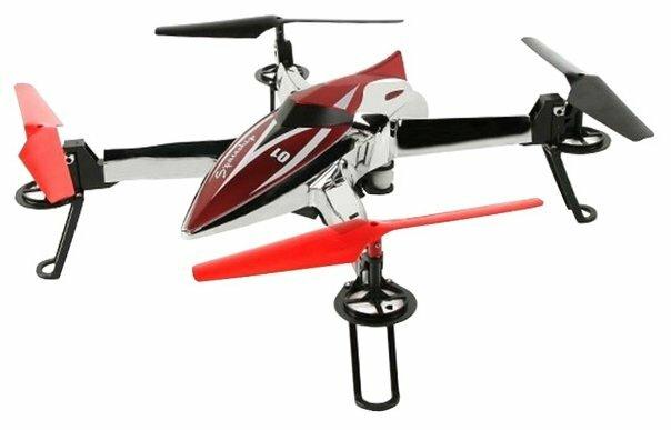 Квадрокоптер WL Toys Q212K серебристый/красный фото 1