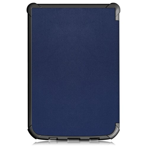 Чехол-обложка MyPads для PocketBook 740 из качественной эко-кожи с функцией включения-выключения и возможностью быстрого снятия синий