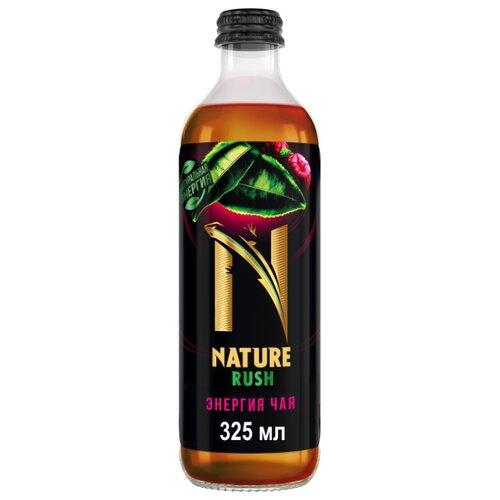 Тонизирующий напиток NATURE RUSH Энергия чая Малина и мята, 0.33 лЭнергетические напитки<br>