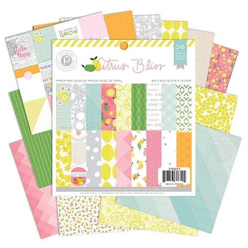 Купить Набор бумаги Citrus Bliss , 15, 2х15, 2 см, 36 листов, American Crafts, Бумага и наборы