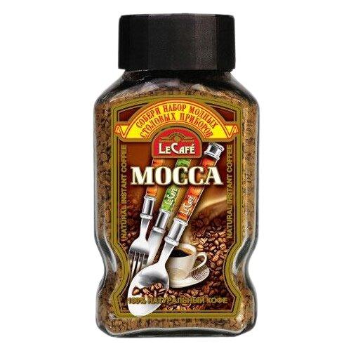 Кофе растворимый Le Cafe MOCCA сублимированный с прибором, стеклянная банка, 95 г