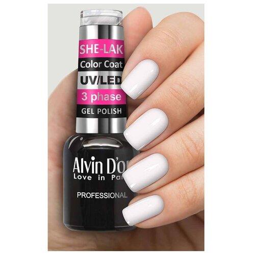 Фото - Гель-лак для ногтей Alvin D'or She-Lak Color Coat, 8 мл, оттенок 3501 гель лак для ногтей cosmoprofi color coat 15 мл оттенок 027