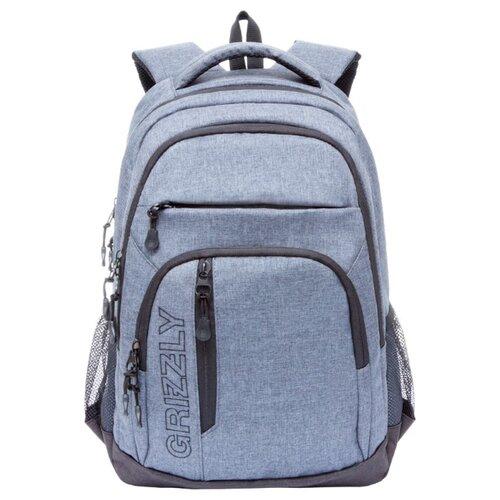 Рюкзак Grizzly RU-700-5 17.5 серый рюкзак городской grizzly цвет синий ru 804 1 4
