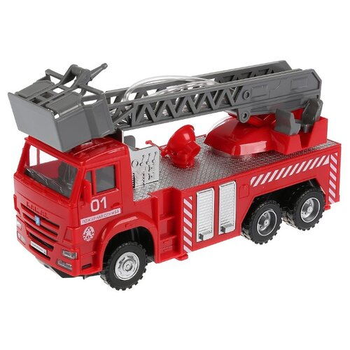 Купить Пожарный автомобиль ТЕХНОПАРК Камаз (KAM-F-RC) 30 см красный, Радиоуправляемые игрушки