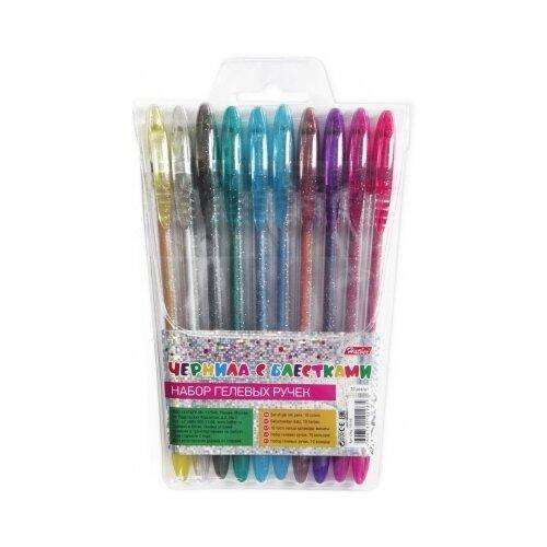Hatber набор гелевых ручек 1.0 мм, 10 цветов (CNg_10110)Ручки<br>