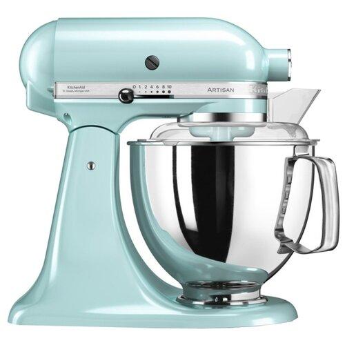 Миксер KitchenAid 5KSM175PSEIC, голубой kitchenaid миксер ручной серебристый 5khm9212ecu kitchenaid