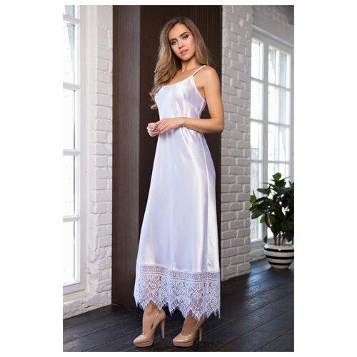 Mia&Mia Длинная сорочка Evelin на тонких бретелях, белый, XL костюм горизонт маскировочный сорочка белый xl
