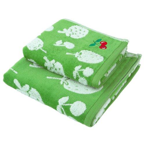 Wellness Полотенце Ягодка для лица 34х76 см зеленыйПолотенца<br>