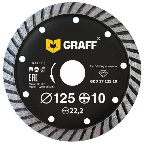 Фото - Диск алмазный отрезной 125x2.5x22.2 GRAFF GDD 17 125.10 1 шт. диск отрезной 125x1 6x22 23 graff gadm 125 16 1 шт