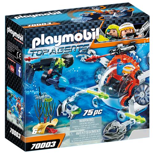 Купить Набор с элементами конструктора Playmobil Top Agents 70003 Вспомогательный бот, Конструкторы
