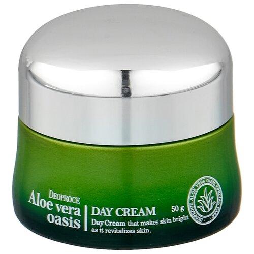 Deoproce Aloe Vera Oasis Day Cream Питательный дневной крем для лица Алое вера, 50 г стельки corbby aloe vera с экстрактом алое безразм