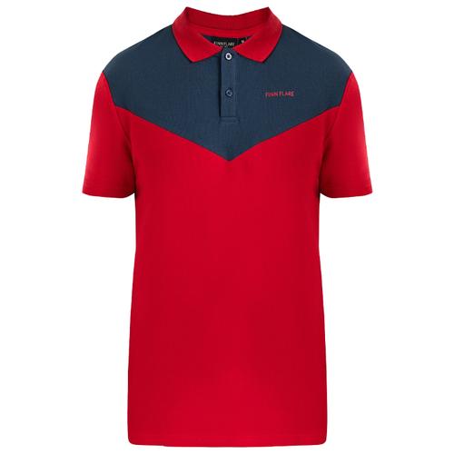 цена Поло FiNN FLARE B20-23018 размер XL, красный (300) онлайн в 2017 году