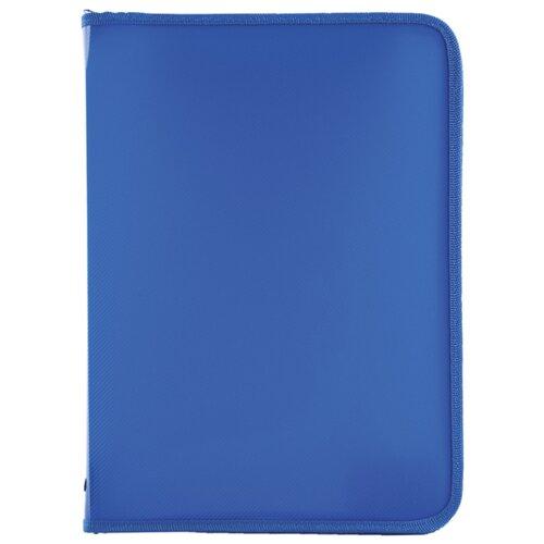 Купить Пифагор Папка для тетрадей А4 одноцветная на молнии синий, Файлы и папки