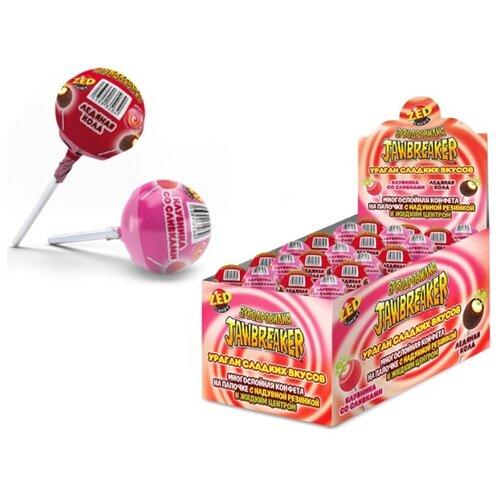 Леденцы на палочке ZED CANDY Зубодробилка Jawbreaker Ураган сладких вкусов ассорти 30 шт. карамель на палочке конфитрейд sweet bar микс вкусов 20 шт по 20 г