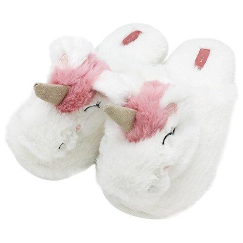 Тапочки Единороги H1310 Halluci белый/розовый 38-39 (Halluci)Домашняя обувь<br>