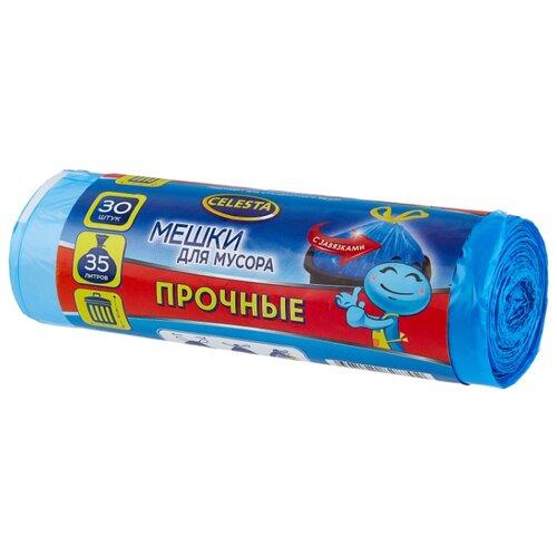 Мешки для мусора Celesta с завязками 35 л (30 шт.) синий мешки для мусора celesta с завязками цвет синий 35 л 30 шт