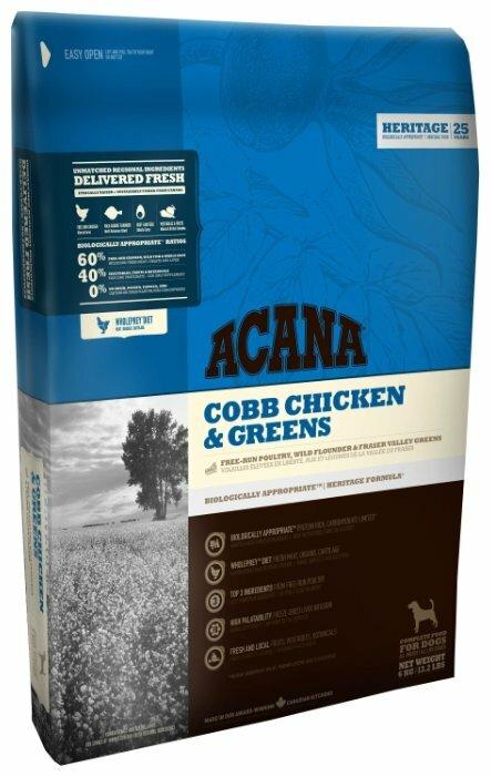 Корм для собак Acana Heritage курица с зеленью 6 кг