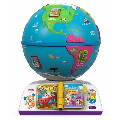 Купить Интерактивная развивающая игрушка Fisher-Price Смейся и учись. Обучающий глобус белый/голубой, Развивающие игрушки