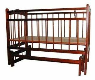 Кроватка Уренский леспромхоз Ладушка (колеса) (качалка), поперечный маятник