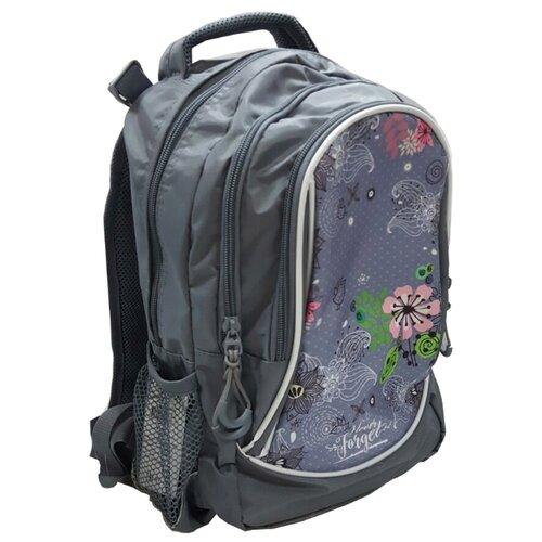 Prof-Press Рюкзак Молодежный Контурные цветы (Р-2806), серый