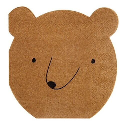 Салфетки медведь Лес, маленькие Meri Meri стаканы пастельные высокие meri meri