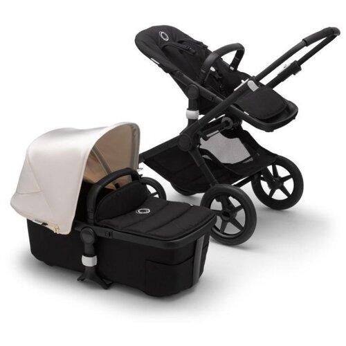 Купить Универсальная коляска Bugaboo Fox 2 complete (2 в 1) BLACK/BLACK/FRESH WHITE, цвет шасси: черный, Коляски