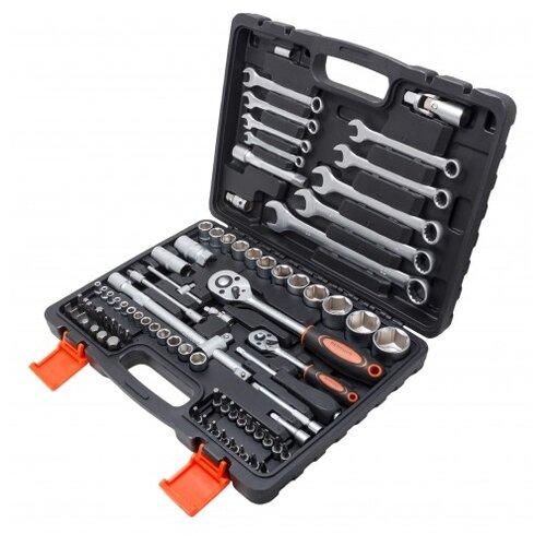 Фото - Набор автомобильных инструментов Partner (82 предм.) PA-4082 черный/оранжевый набор инструментов sparta 6 предм 13540 черный оранжевый