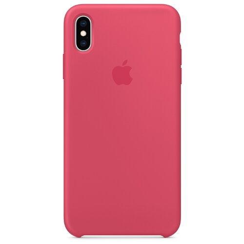 Чехол Apple силиконовый для iPhone XS Max красный каркадеЧехлы<br>